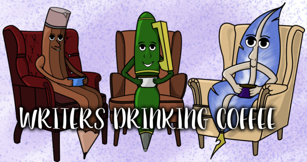 Writers Drinking Coffee Banner
